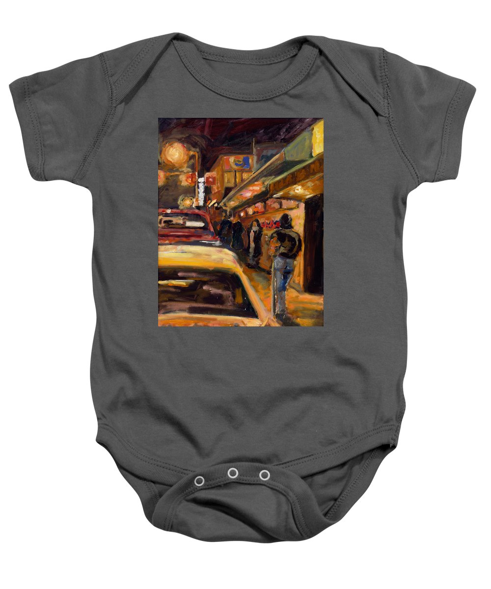 Rob Reeves Baby Onesie featuring the painting Steb's Amusements by Robert Reeves