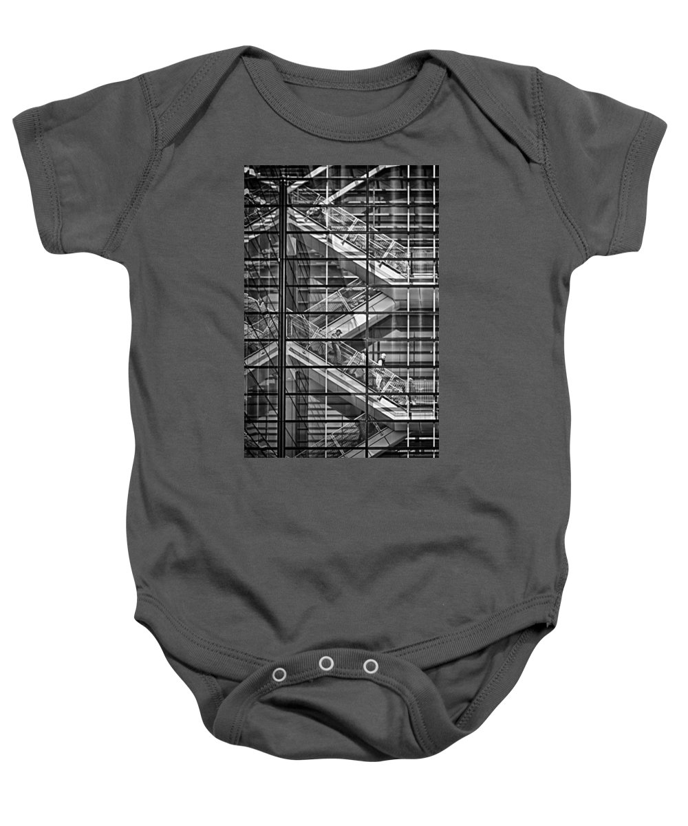 Stairs Baby Onesie featuring the photograph Stepping Panes by Scott Wyatt