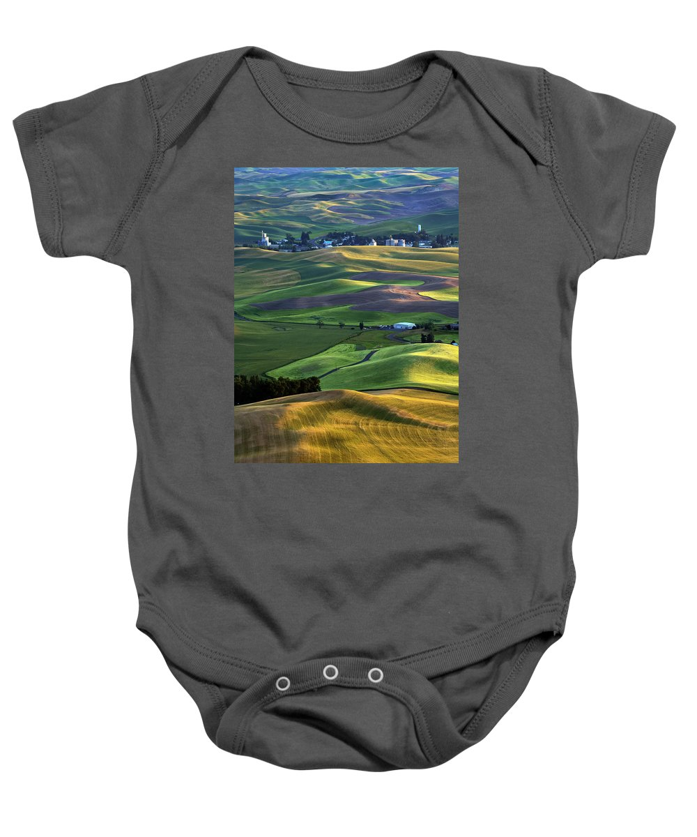 Palouse Baby Onesie featuring the photograph Steptoe Shadows by Mike Dawson