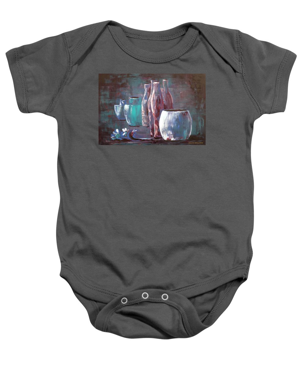 Still Baby Onesie featuring the painting Still Life 2 by Gina De Gorna