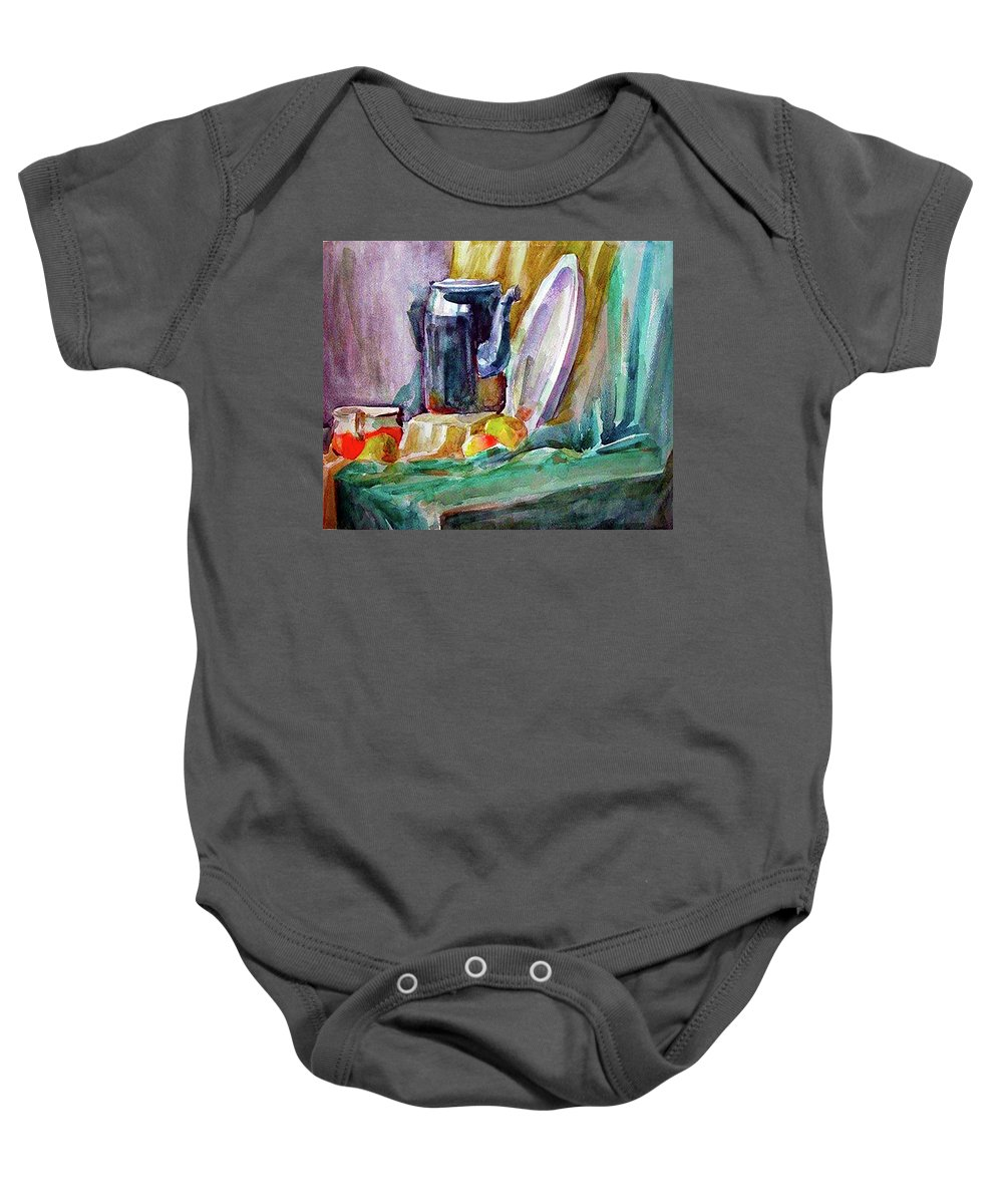 Still Life Baby Onesie featuring the painting Still Life by Maria Rom