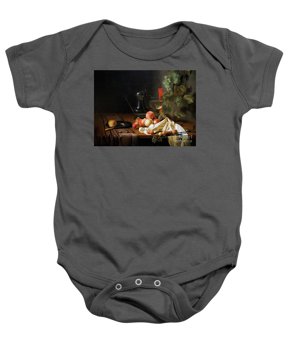 Abraham Baby Onesie featuring the photograph Still Life With Fruit by Peter Barritt