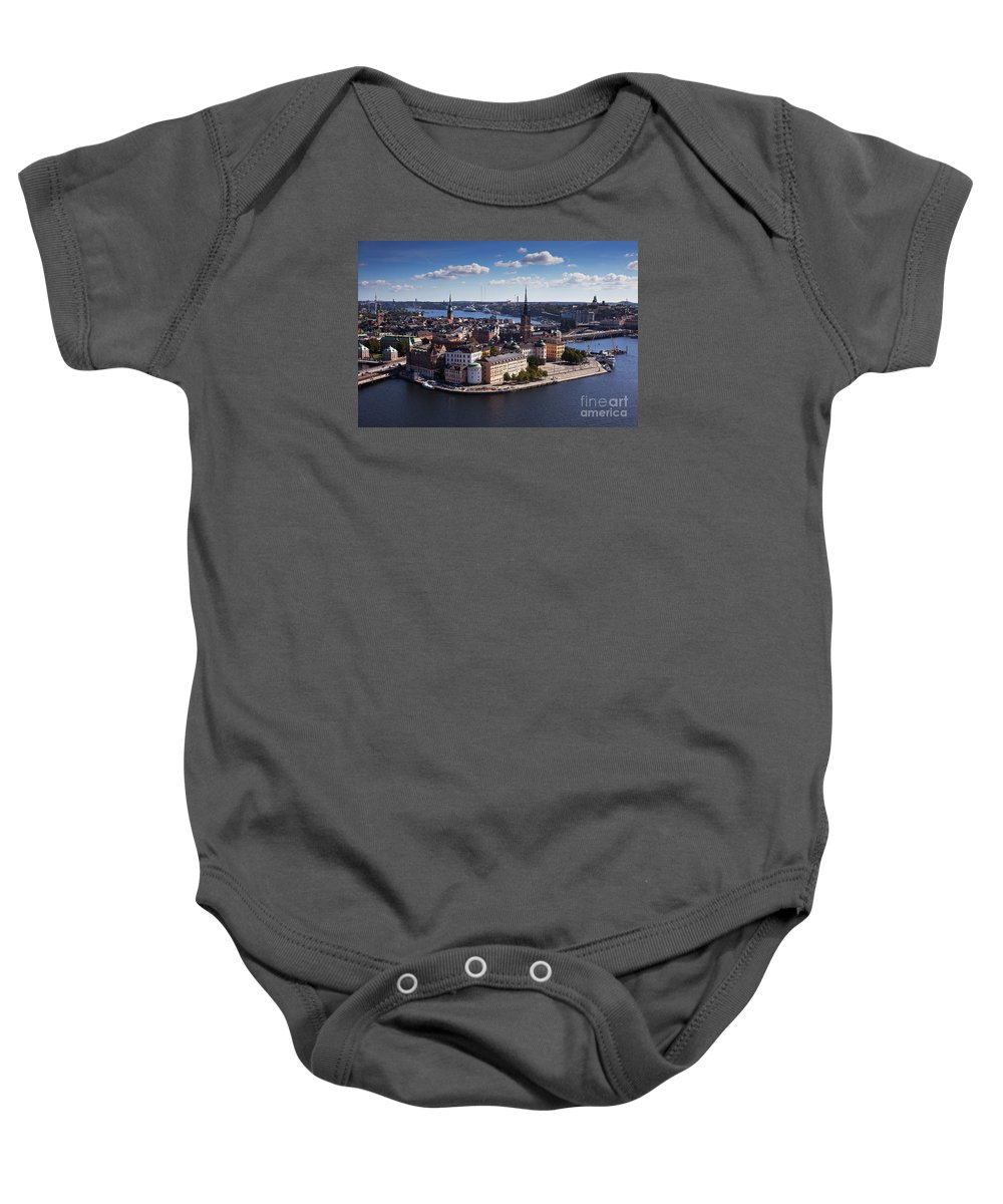 Architecture Baby Onesie featuring the photograph Stockholm by Allan Wallberg