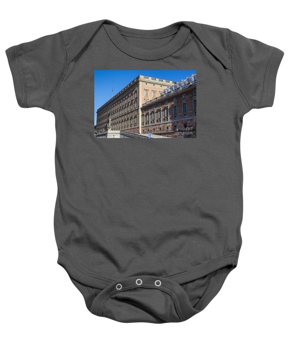 Stockholm Baby Onesie featuring the photograph Stockholm Royal Palace by Suzanne Luft