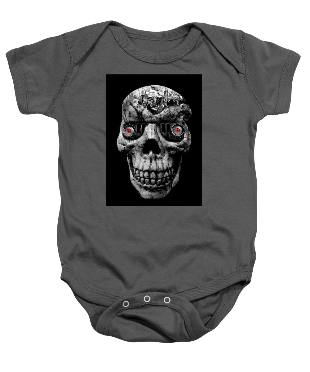 Jeep Baby Onesie featuring the photograph Stone Cold Jeeper Cyborg No. 1 by Luke Moore