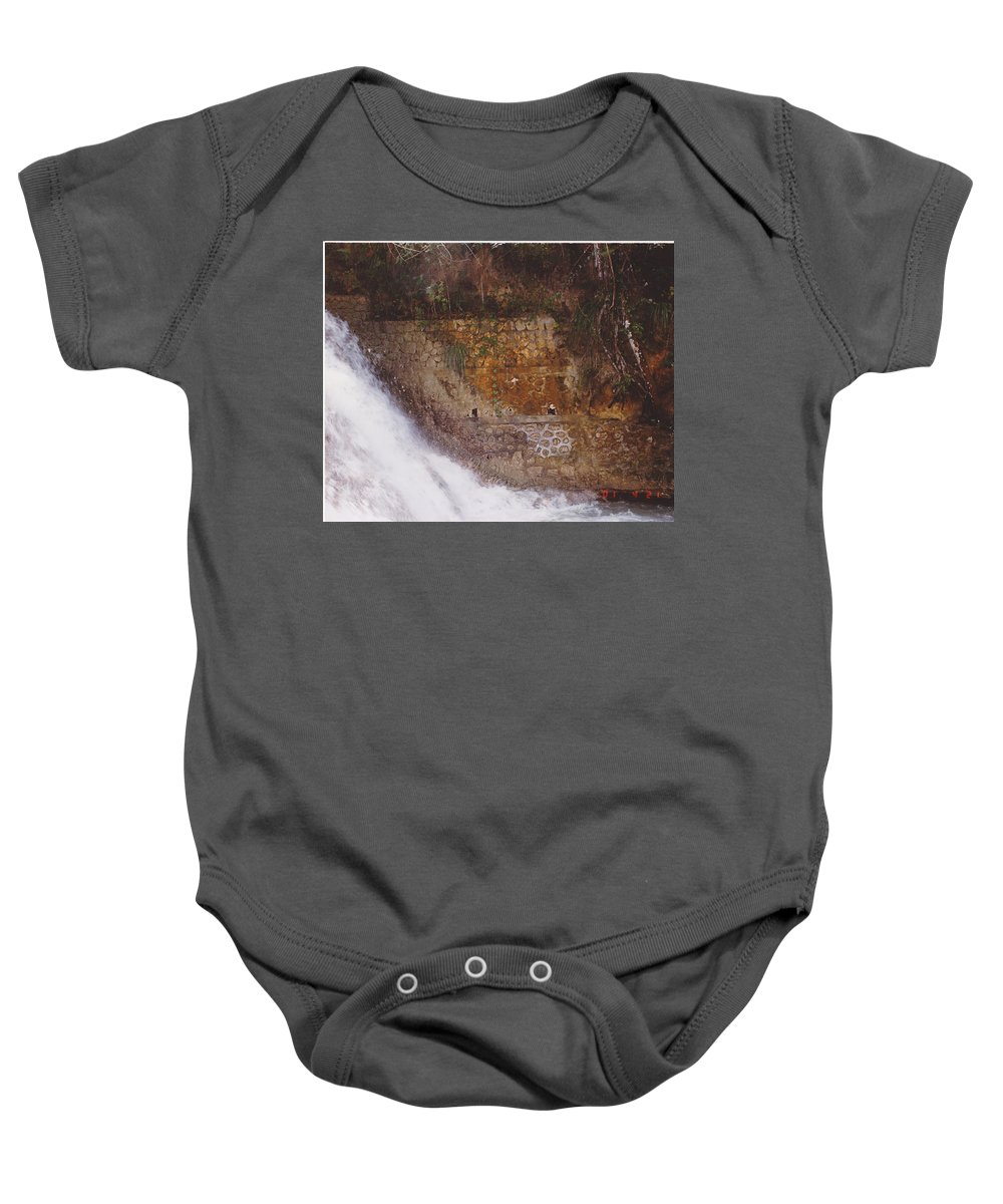 Brick Baby Onesie featuring the photograph Stonewall by Michelle Powell