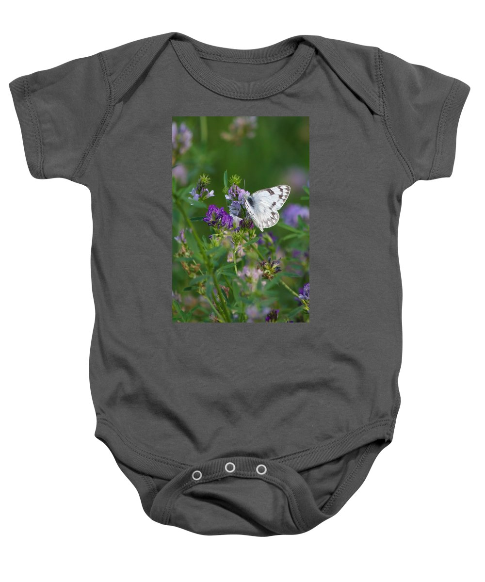 Nature Baby Onesie featuring the photograph Stop And Smell The Flowers by Crystal Massop