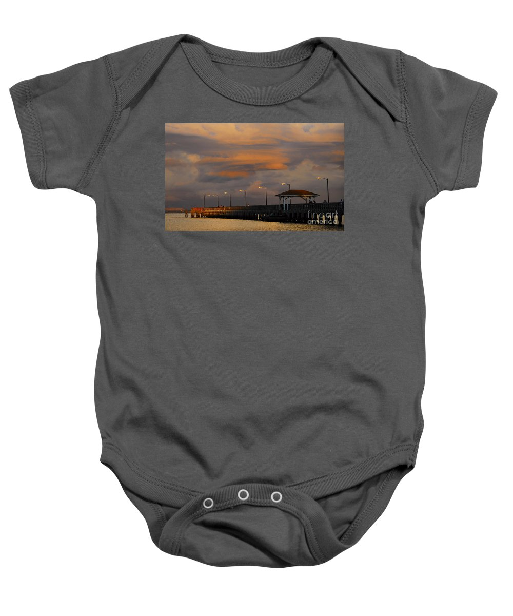 Storm Baby Onesie featuring the photograph Storm Over Ballast Point by David Lee Thompson
