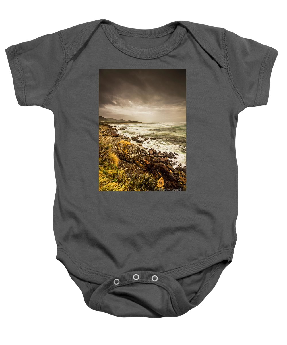 Overcast Baby Onesie featuring the photograph Storm Season by Jorgo Photography - Wall Art Gallery