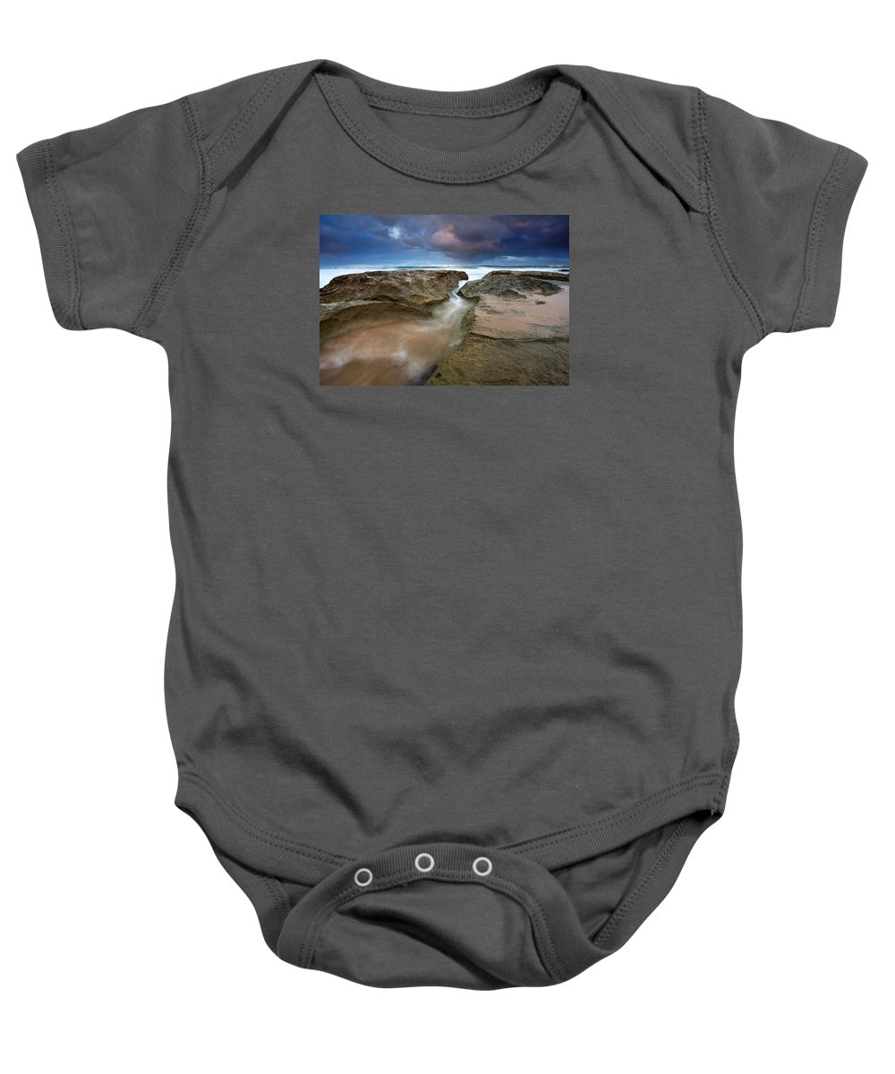 Storm Surge Baby Onesie featuring the photograph Storm Surge by Mike Dawson