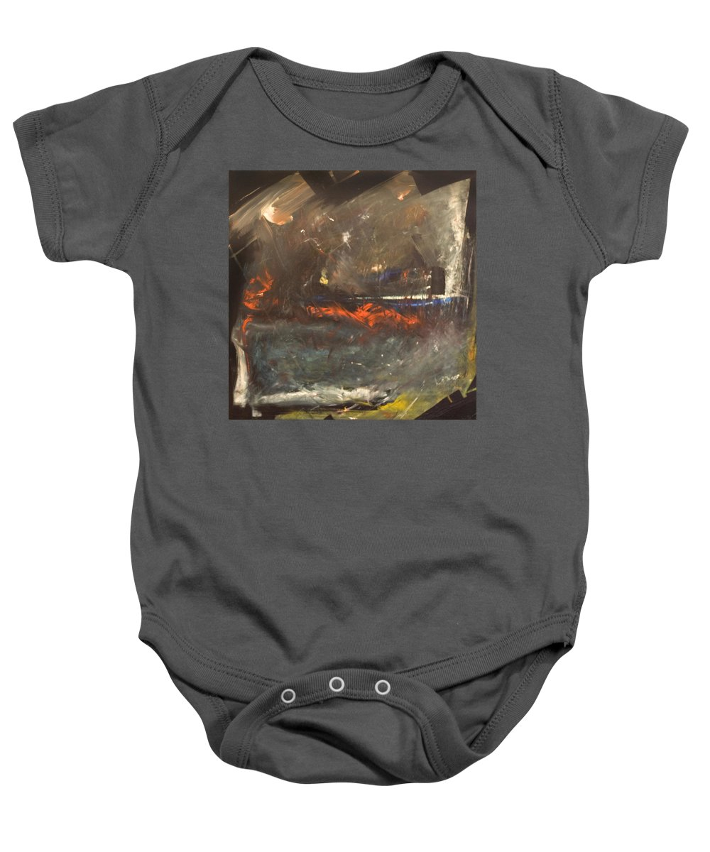 Storm Baby Onesie featuring the painting Stormy Monday by Tim Nyberg