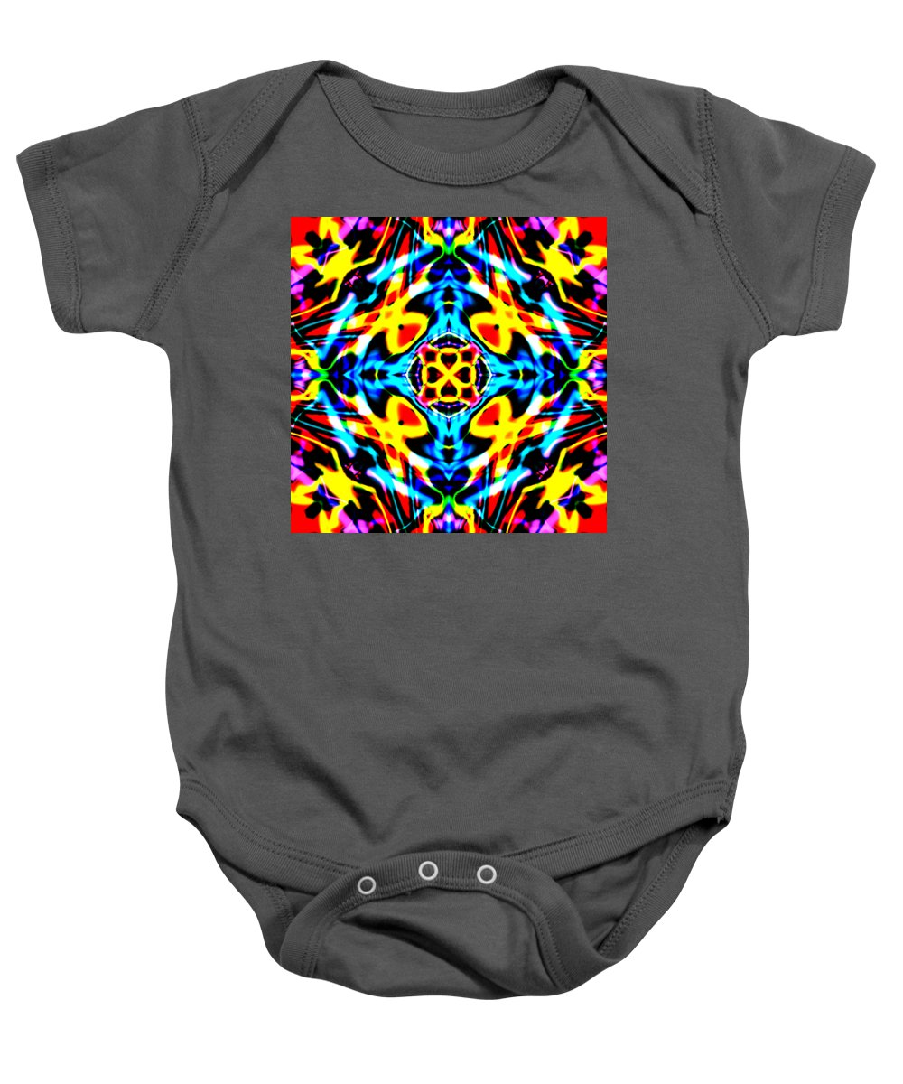 Red Baby Onesie featuring the digital art Strabe by Blind Ape Art