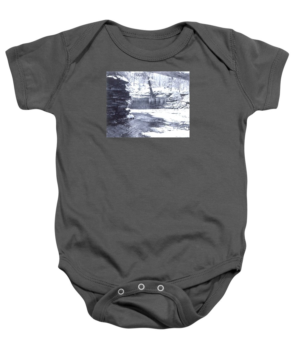 Winter Baby Onesie featuring the photograph Streambed by Rusty Ruckel