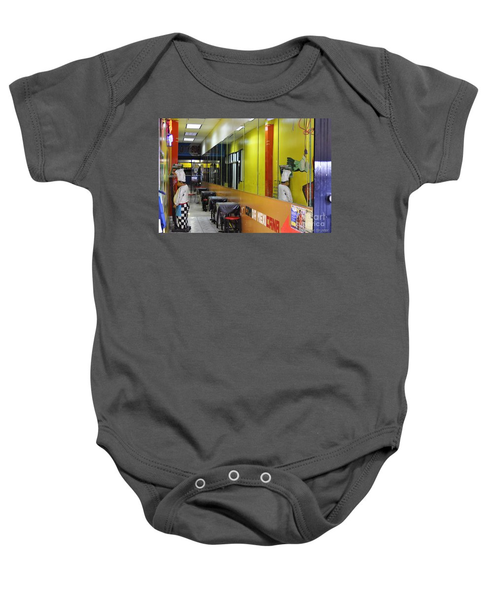 Clay Baby Onesie featuring the photograph Street Photography by Clayton Bruster