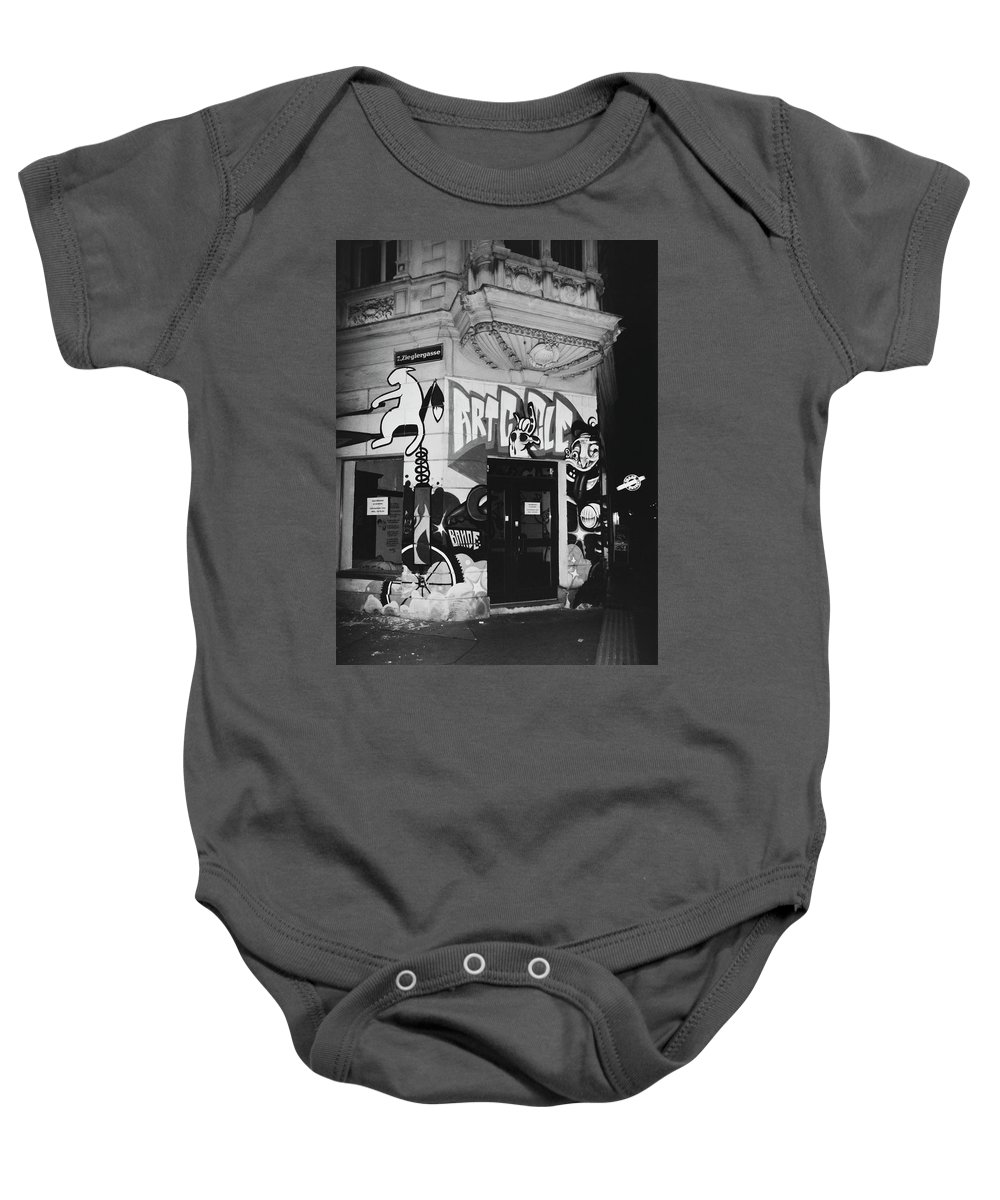 Bw Baby Onesie featuring the photograph Street Series #7 by Dana West