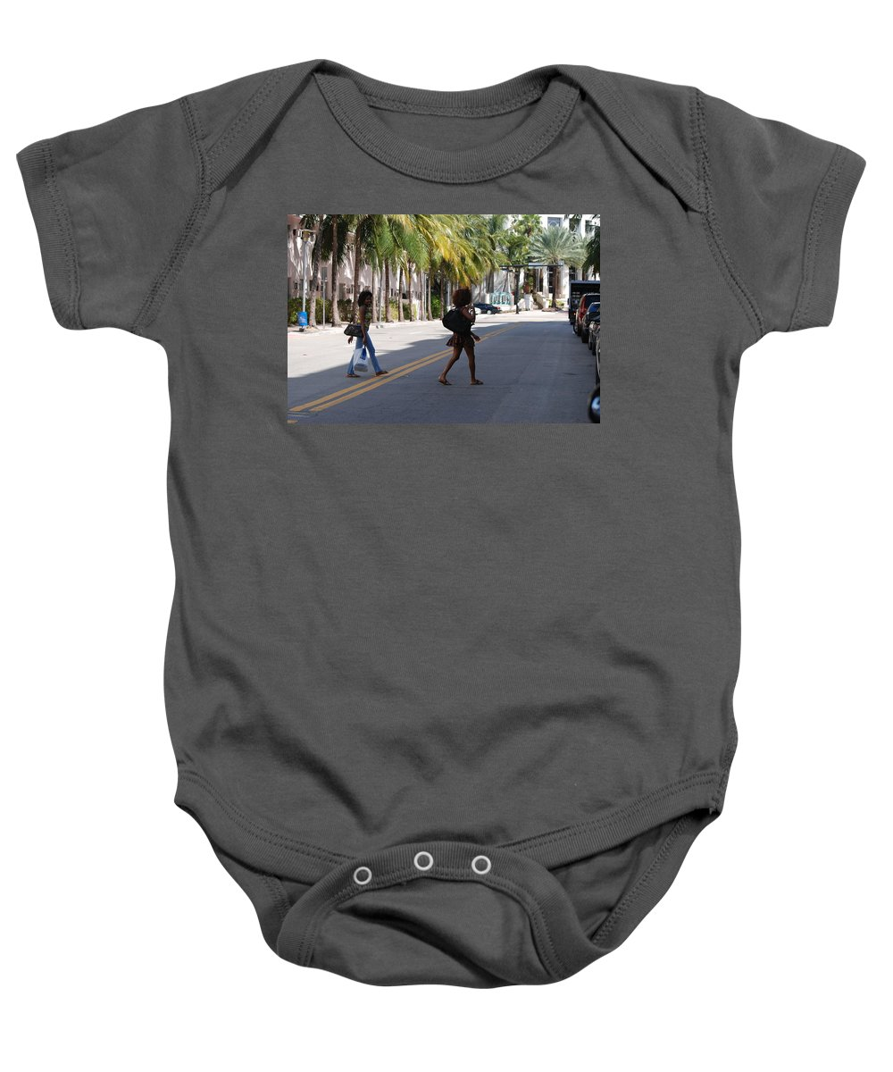 Girls Baby Onesie featuring the photograph Street Walkers by Rob Hans