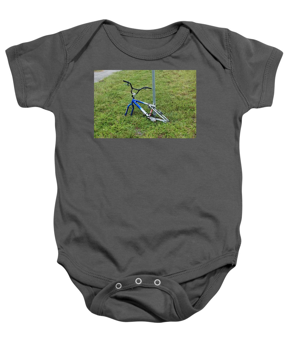 Bicycle Baby Onesie featuring the photograph Stripped by Rob Hans