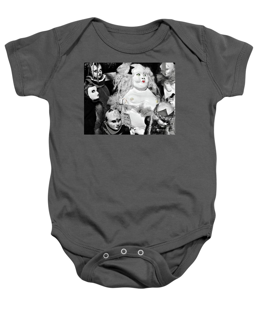 Doll Baby Onesie featuring the photograph Stuck In The Window With You by Kathleen K Parker
