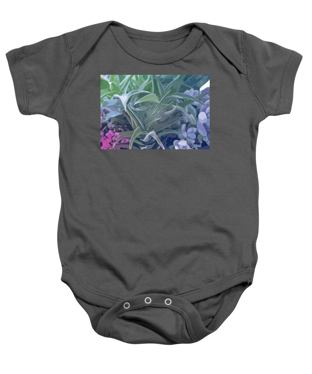 Century Plant Baby Onesie featuring the photograph Succulents I by Linda Dunn