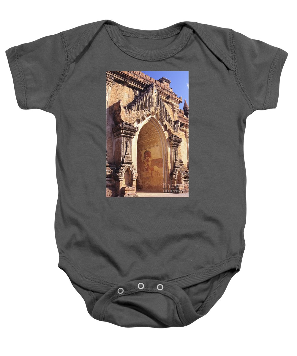 Afternoon Baby Onesie featuring the photograph Sulamani Temple by Gloria & Richard Maschmeyer - Printscapes