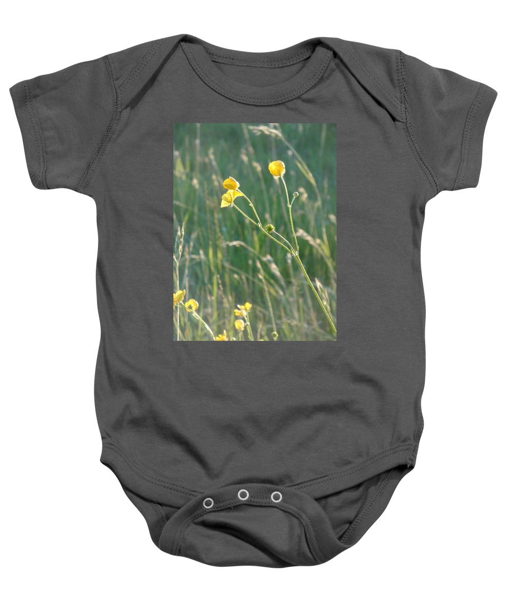 Flowers Baby Onesie featuring the photograph Summer Buttercups by Susan Baker