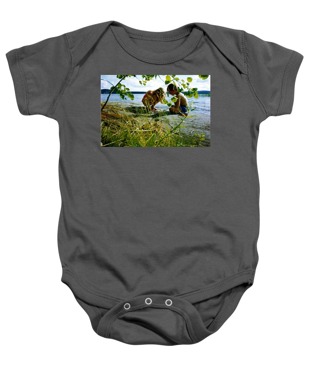 Kids Baby Onesie featuring the photograph Summer Fun In Finland by Merja Waters