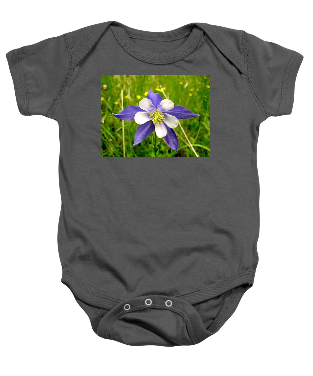 Plant Baby Onesie featuring the photograph Summer In The Rockies by Carol Milisen