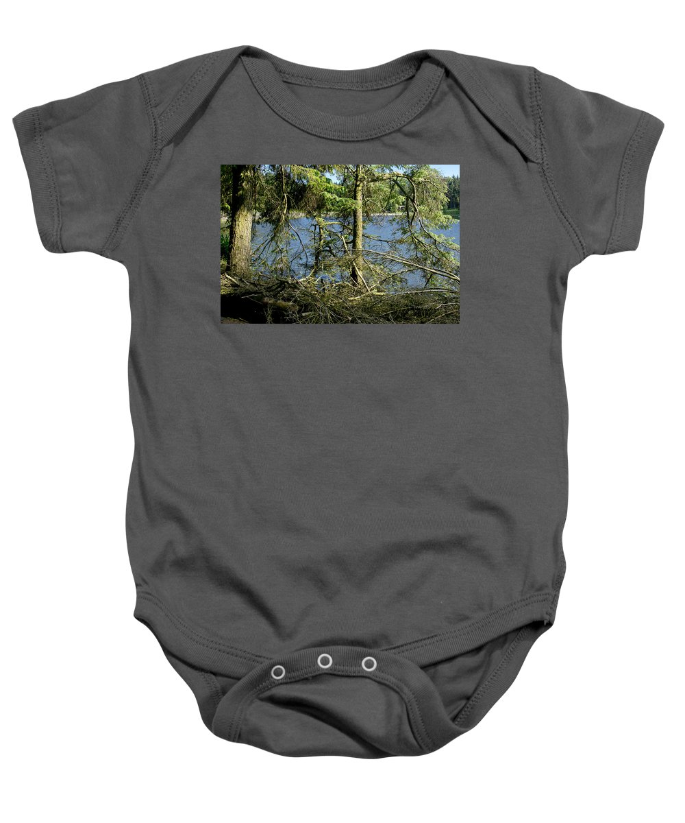 Beecraigs Baby Onesie featuring the photograph Sun Of The Loch Afternoon. by Elena Perelman