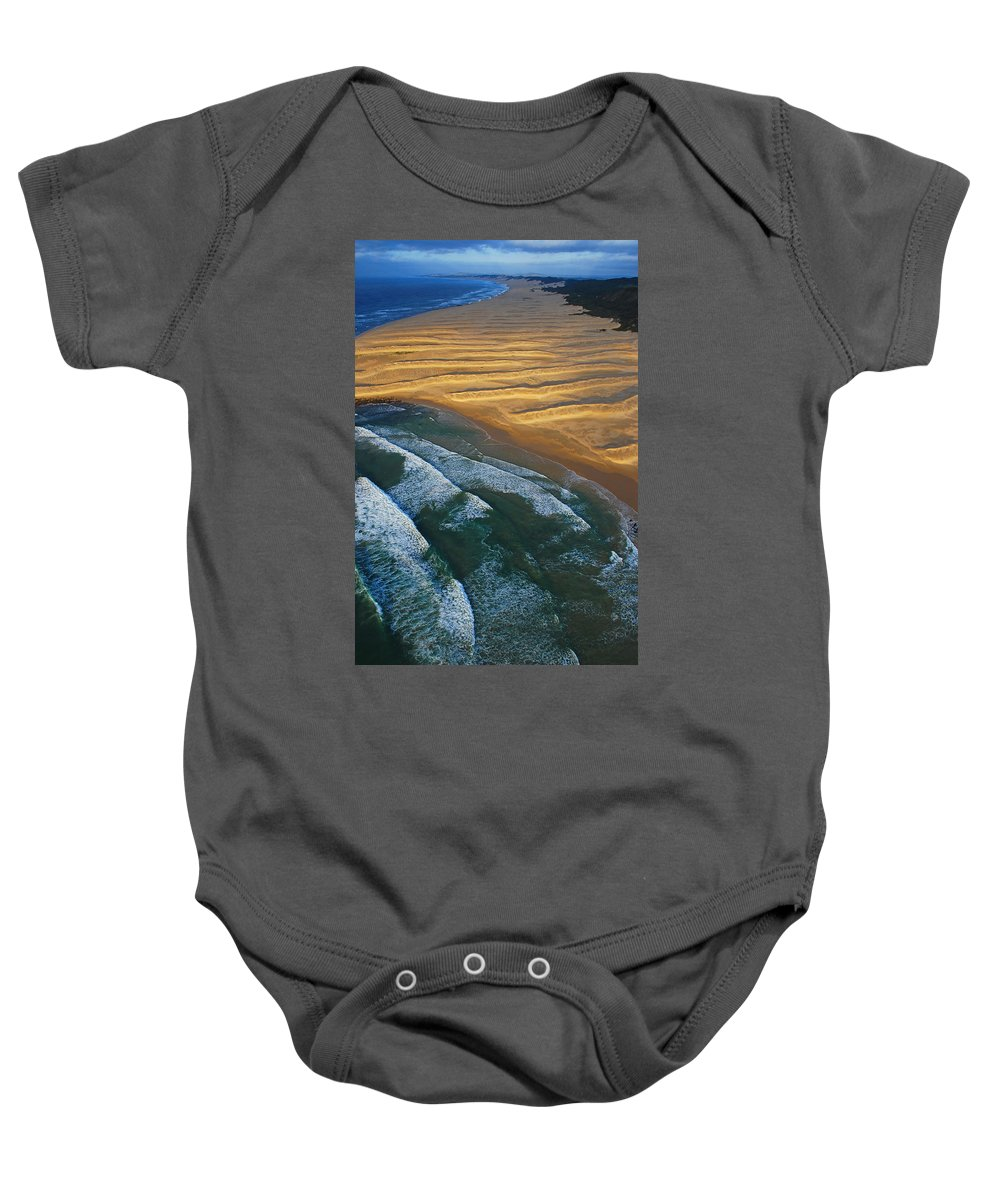 Coast Baby Onesie featuring the photograph Sun Rise Coast by Skip Hunt