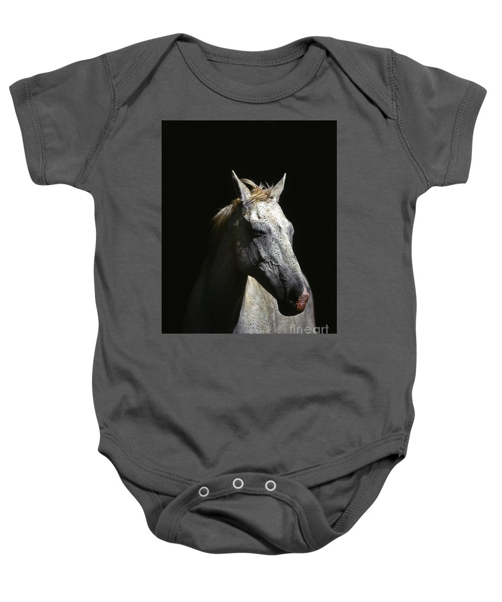 Horse Baby Onesie featuring the photograph Sundance by Jim Cazel