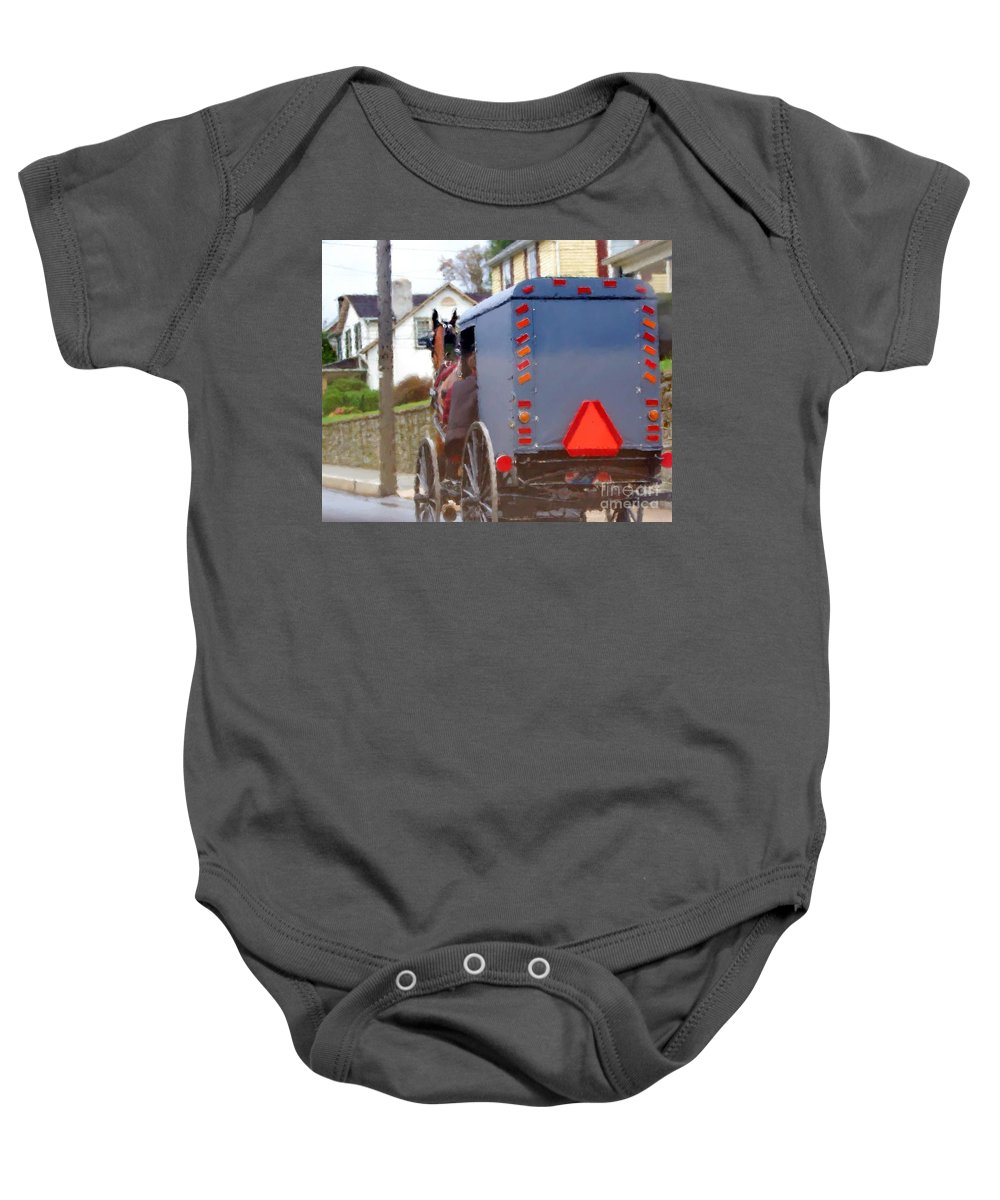 Amish Baby Onesie featuring the photograph Sunday Courting by Debbi Granruth