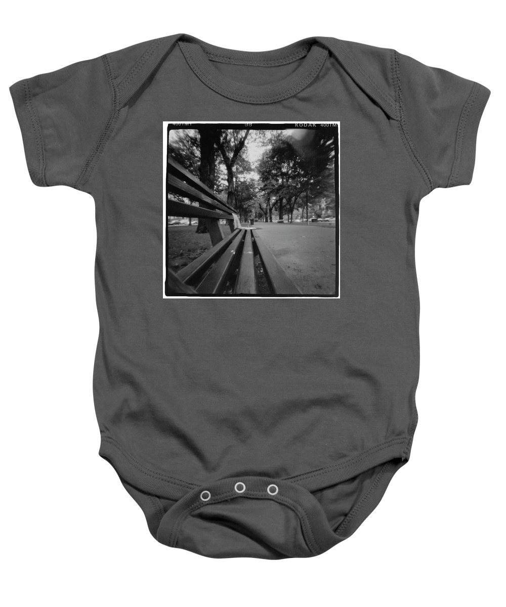Bw Baby Onesie featuring the photograph Sunday Paper by Dana West