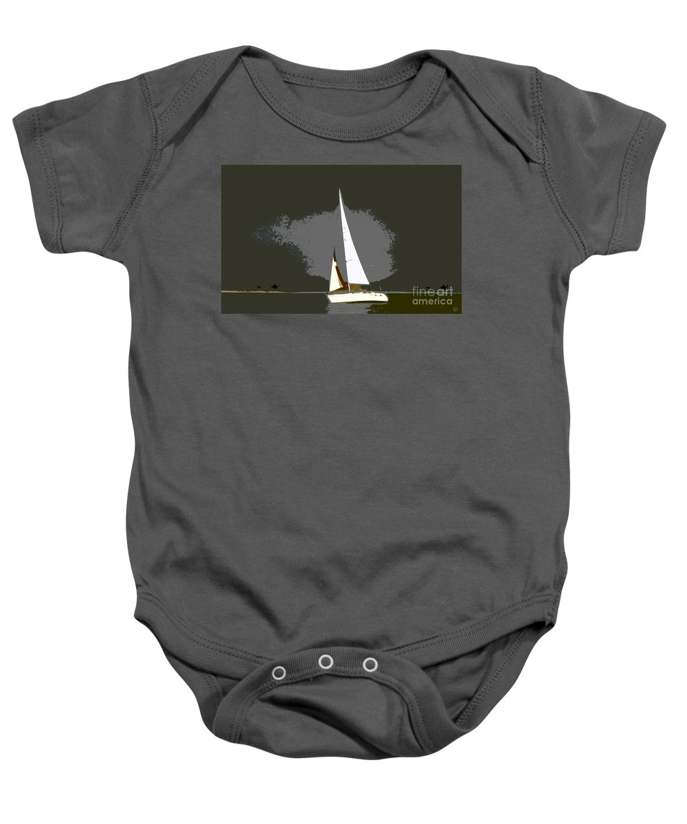 Sailing Baby Onesie featuring the painting Sunday Sailing by David Lee Thompson