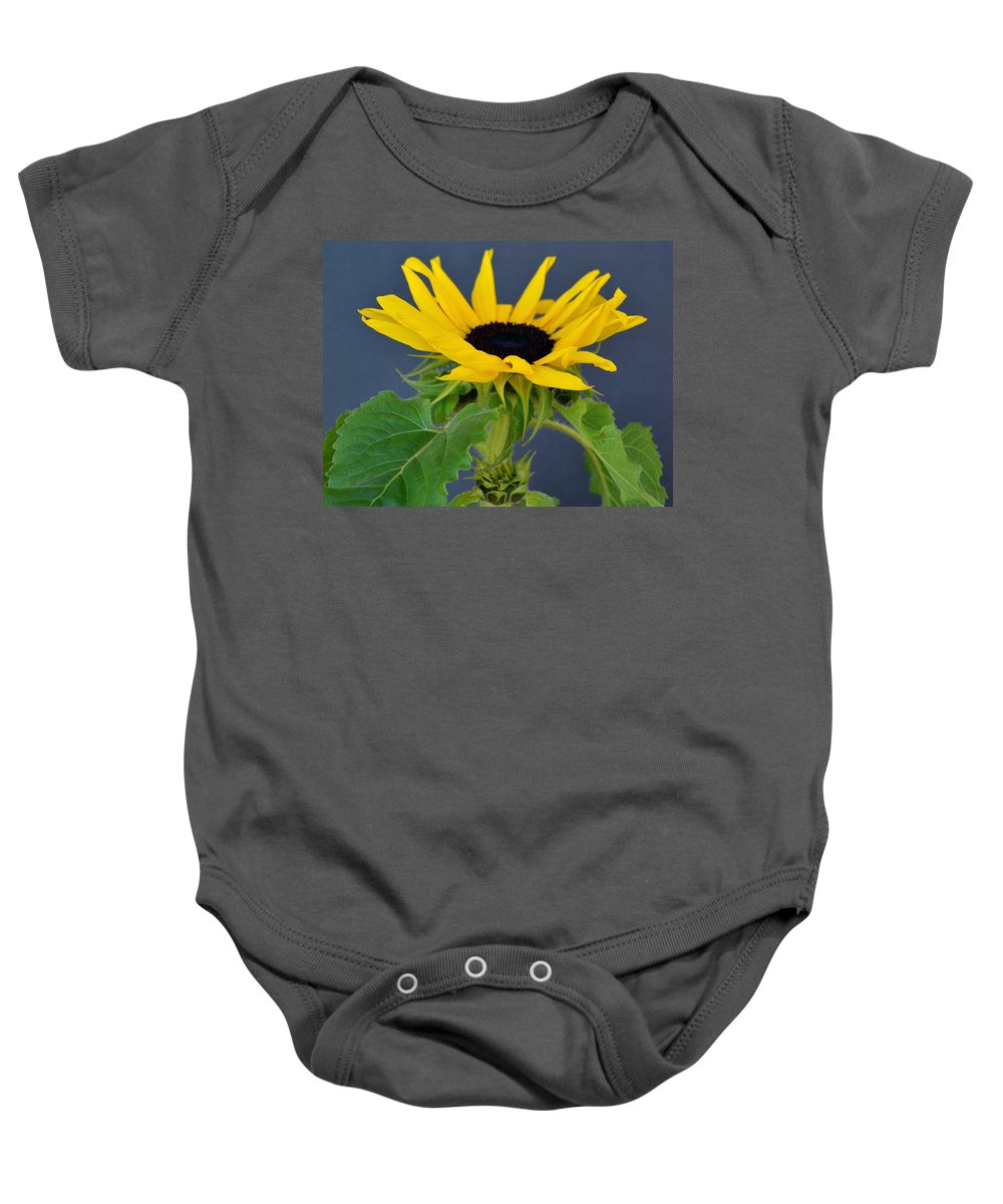 Sunflower Baby Onesie featuring the photograph Sunflower by James Pinkerton