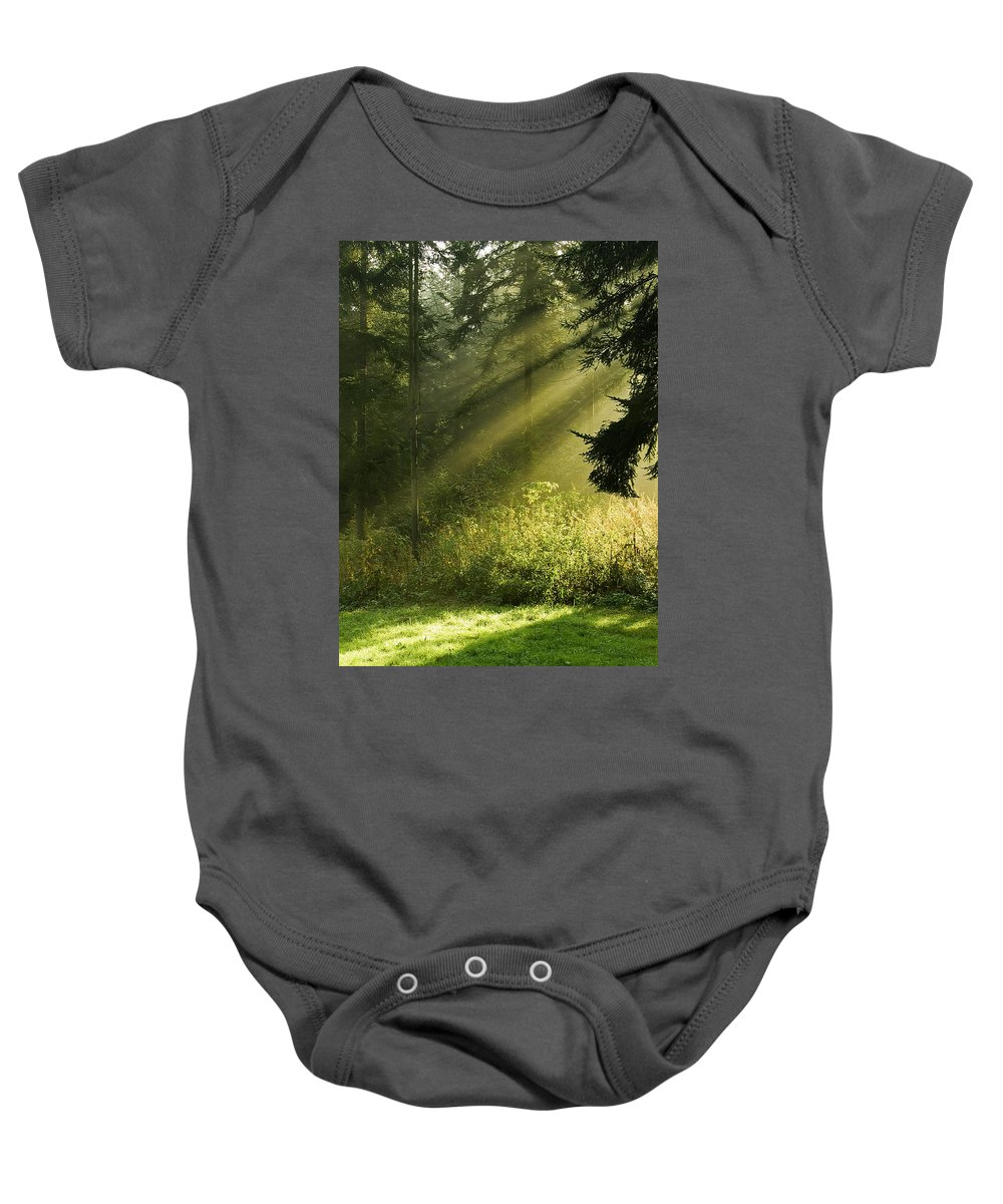 Nature Baby Onesie featuring the photograph Sunlight by Daniel Csoka
