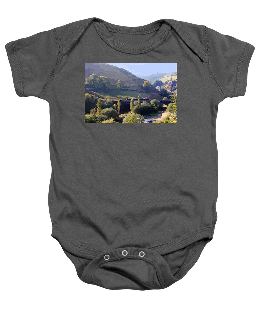 Yorkshire Landscape Baby Onesie featuring the photograph Sunlit Valley by Elizabetha Fox