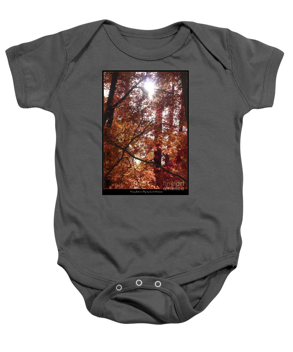 Fall Baby Onesie featuring the photograph Sunny Autumn Day Poster by Carol Groenen