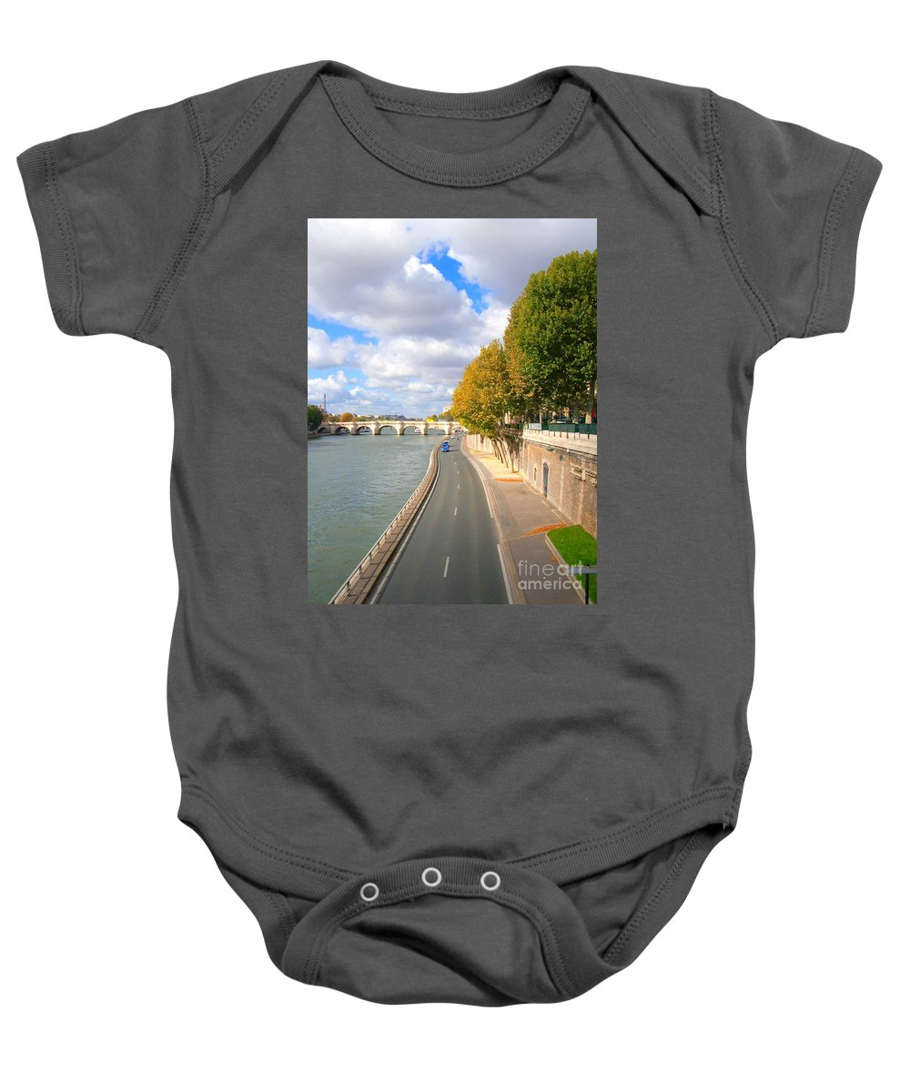 Paris Baby Onesie featuring the photograph Sunny Day In Paris by Charuhas Images