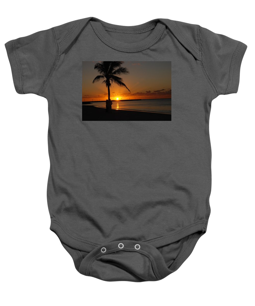 Sunrise Photos In Key West Fl Baby Onesie featuring the photograph Sunrise in Key West FL by Susanne Van Hulst