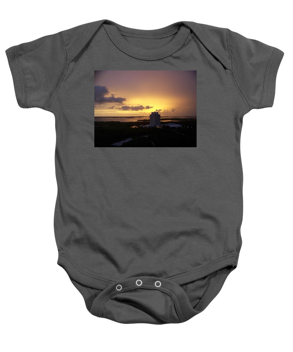 Sunset Baby Onesie featuring the photograph Sunset 0003 by Laurie Paci