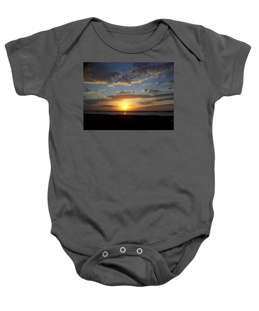 Sunset Baby Onesie featuring the photograph Sunset 0007 by Laurie Paci
