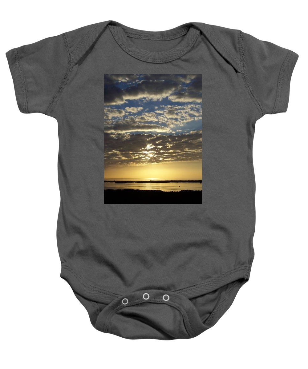 Sunset Baby Onesie featuring the photograph Sunset 0011 by Laurie Paci