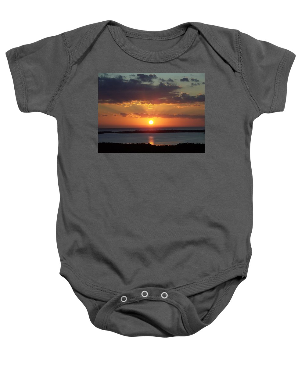 Sunset Baby Onesie featuring the photograph Sunset 0013 by Laurie Paci