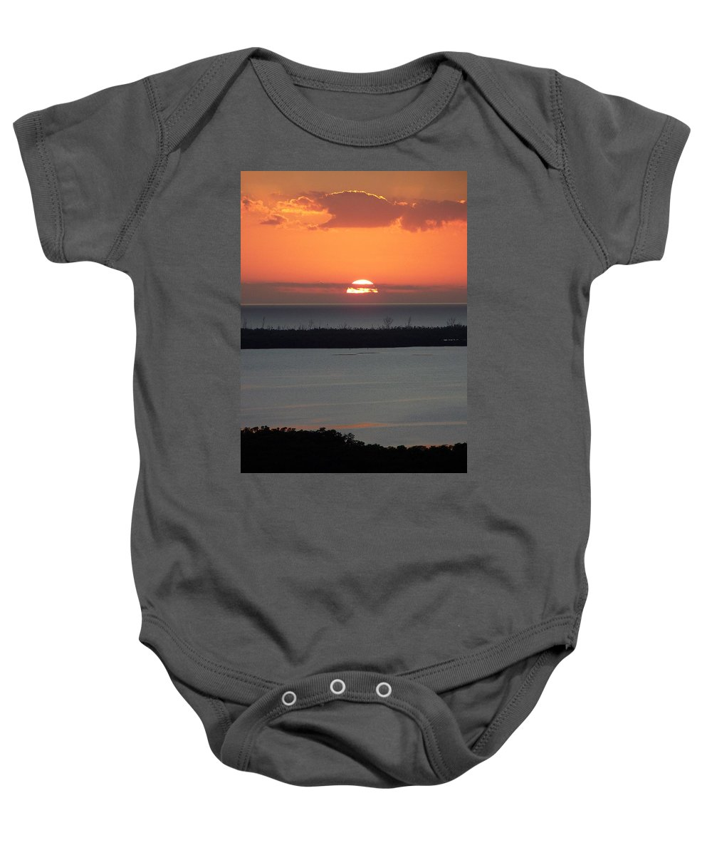 Sunset Baby Onesie featuring the photograph Sunset 0015 by Laurie Paci