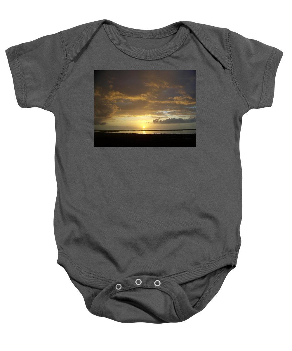 Sunset Baby Onesie featuring the photograph Sunset 0018 by Laurie Paci