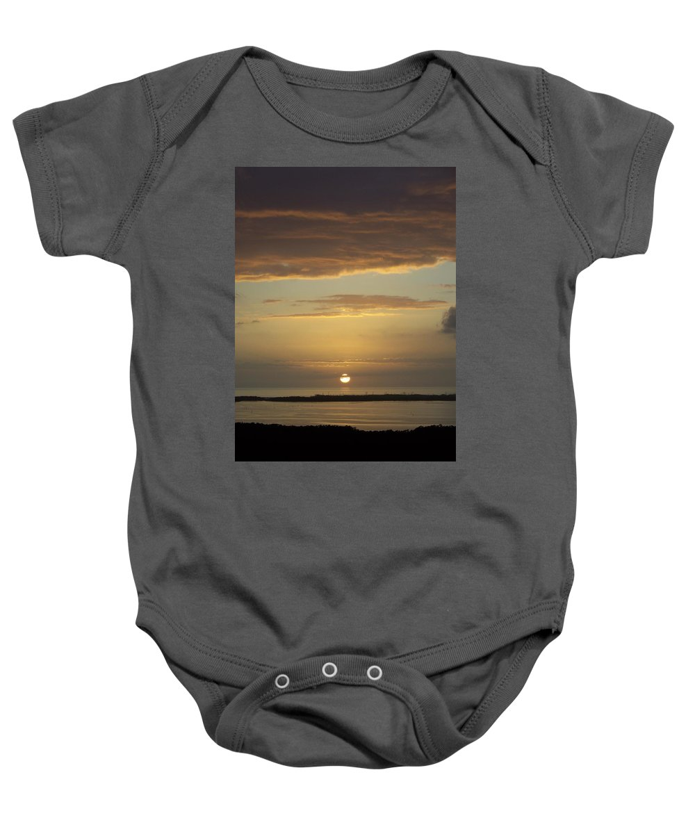 Sunset Baby Onesie featuring the photograph Sunset 0021 by Laurie Paci