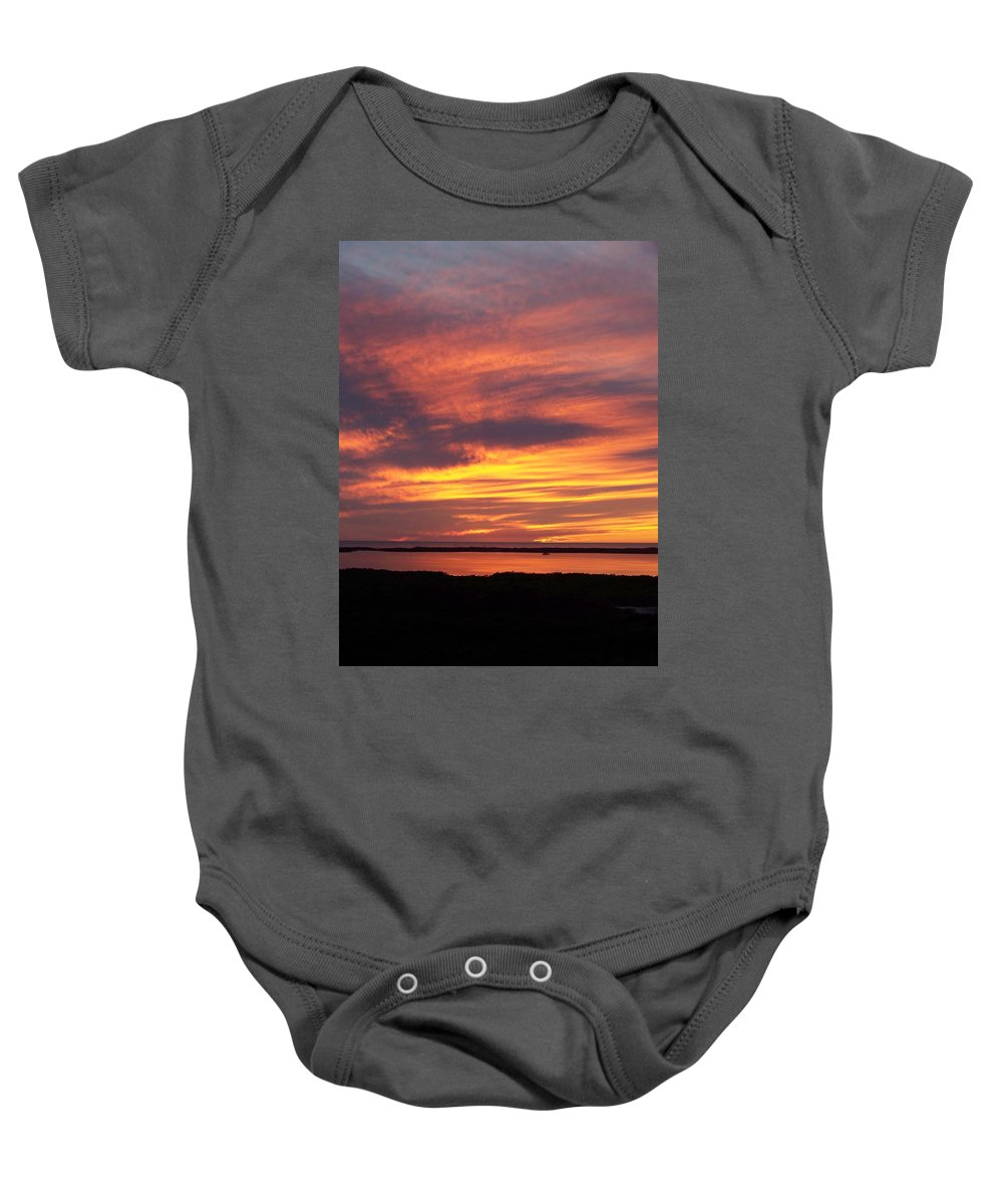 Sunset Baby Onesie featuring the photograph Sunset 0037 by Laurie Paci