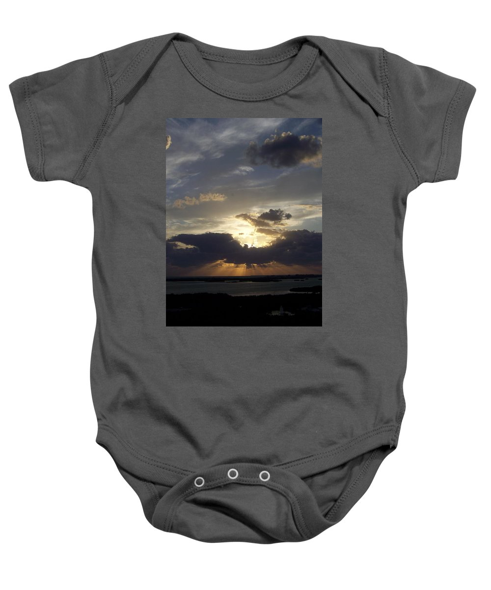 Sunset Baby Onesie featuring the photograph Sunset 0044 by Laurie Paci