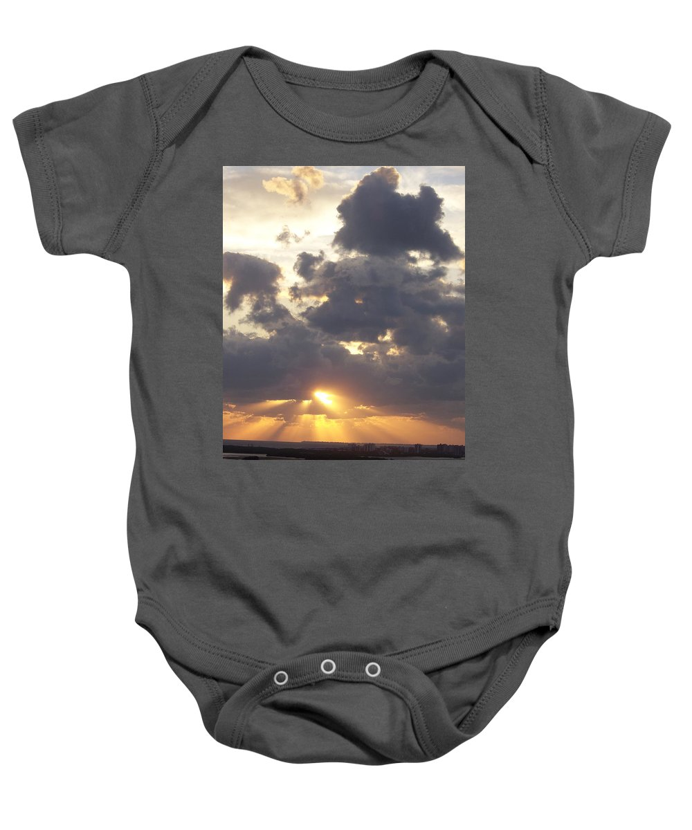 Sunset Baby Onesie featuring the photograph Sunset 0045 by Laurie Paci