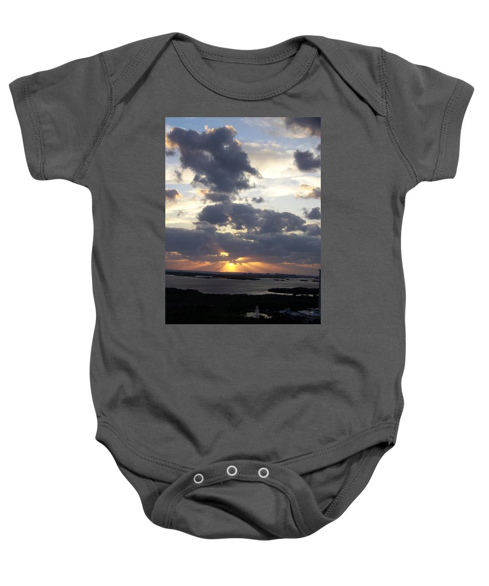 Sunset Baby Onesie featuring the photograph Sunset 0046 by Laurie Paci